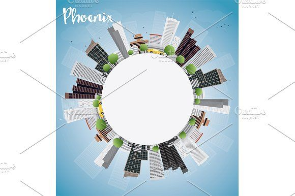 #Phoenix #Skyline by Igor Sorokin on @creativemarket
