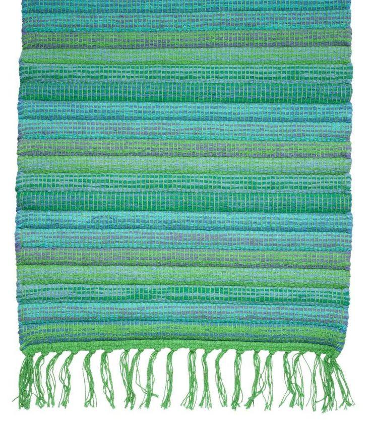 Rice vloerloper blauw groen