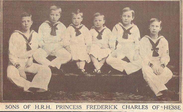 Prince Friedrich Wilhelm, Prince Maximilian, Philipp Landgrave of Hesse, Prince Wolfgang, Prince Christoph, Prince Richard