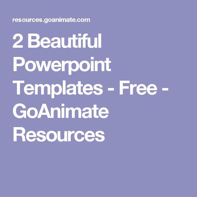 2 Beautiful Powerpoint Templates - Free - GoAnimate Resources