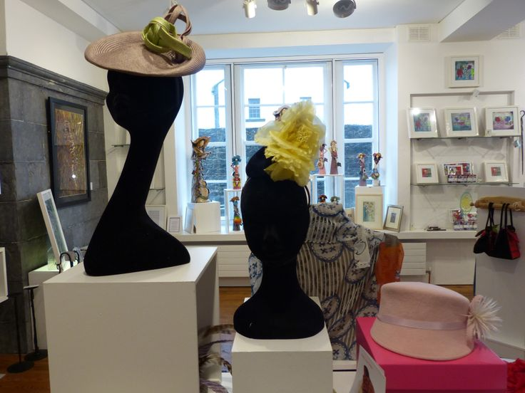 beautiful hat display from milliner Wendy Louise