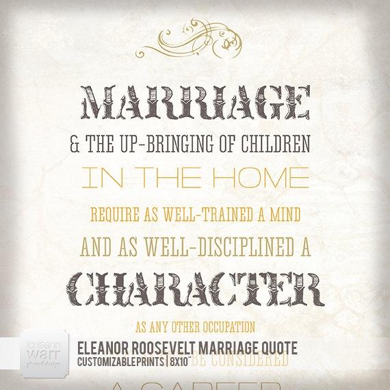 Marriage - Eleanor Roosevelt