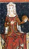 Joan of Kent (1328 - 1385). Wife of Edward the Black Prince, and Princess of Wales. She was the mother of Richard II and called the Fair Maid of Kent. Her son became King in 1377. She died in 1385.
