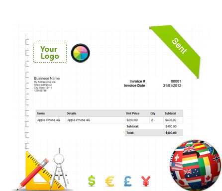 Customise Your System Build Online Invoices into your brand! Build your invoice template Custom URL Site Colours & Logo Support Multiple Currencies Multiple Language Support Date Format & Time Zone