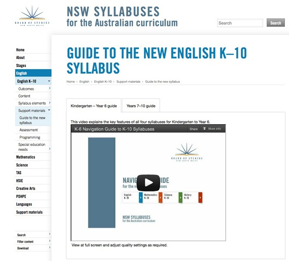 NSW Syllabuses for the Australian curriculum
