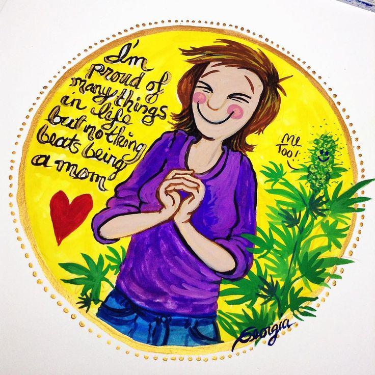Yep. ❤️💚❤️. #mom #moms #cannabisplant #love