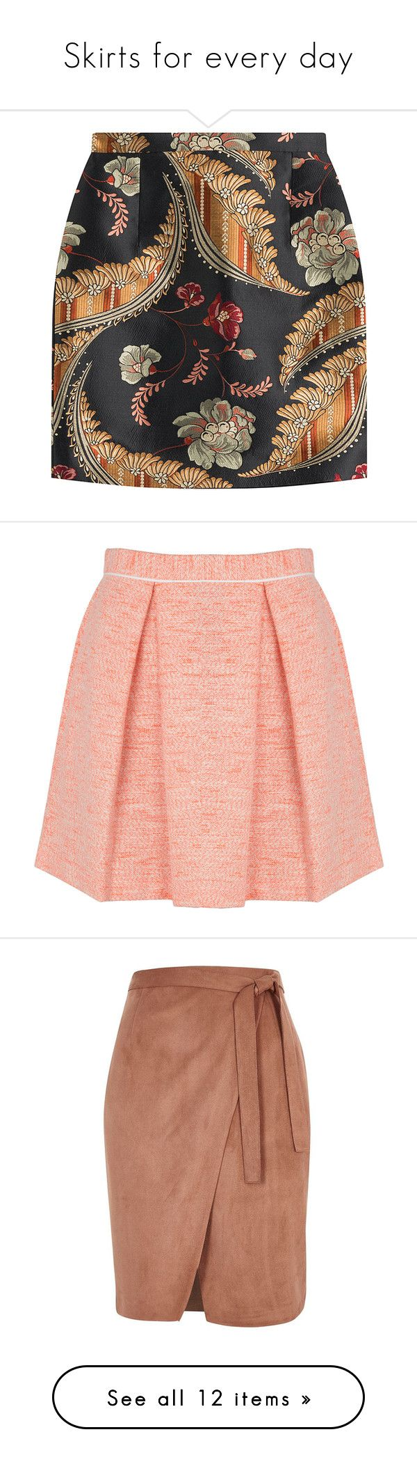 """""""Skirts for every day"""" by na-pan ❤ liked on Polyvore featuring skirts, mini skirts, bottoms, faldas, saia, multicolor, colorful skirts, multicolor skirt, zipper skirt and mini skirt"""