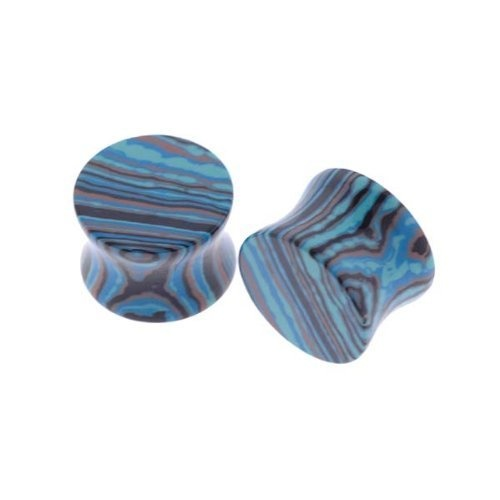 Blue Calisilica Stone Plugs - 5/8'' (16mm) - Sold as a Pair WickedBodyJewelz - Plugs - Stone, http://www.amazon.com/dp/B004YDR10Q/ref=cm_sw_r_pi_dp_pkn9pb1D5E7ZZ $15.25