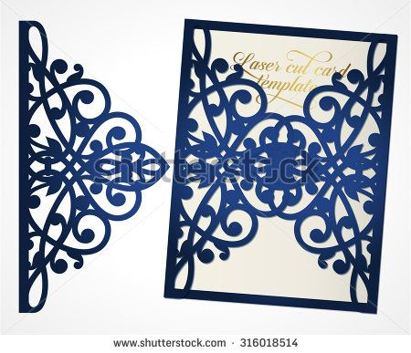 Abstract cutout wedding invitation suitable for lasercutting lazercut wedding invitation card for Free laser cutter templates
