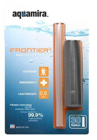 I keep this in the EDC pouch. I haven't had to use it yet but it's there. Aquamira Frontier Emergency Water Filtration and Straw