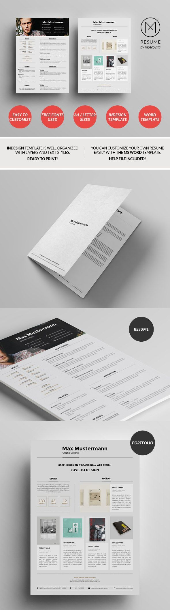 Structured Creative Resume Template Design 7 best