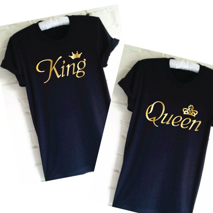 King queen shirts, Couples shirts, Wedding gift, Honeymoon shirts, Matching shirts, Engagement shirts for couples, Mr and MRS shirts