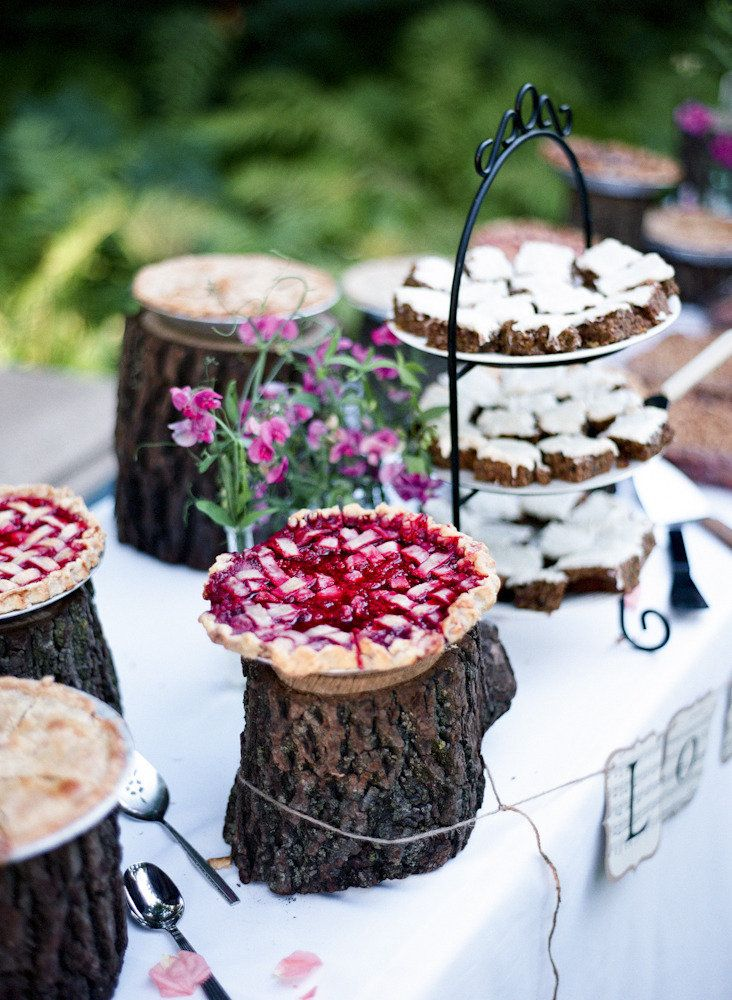 This appeals to me so much more than a fancy wedding cake.  Photography By / http://tanjalippertphotography.com