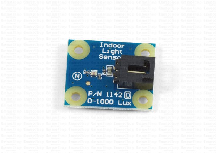 1142_0 - Light Sensor 1000 lux Measures light intensities of up to 1000 lux and connects to an analog input. Both incandescent and fluorescent light can be measured.