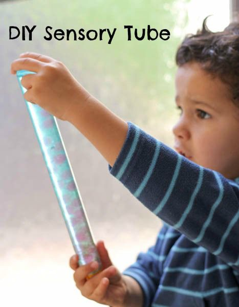 DIY sensory tube or sensory wand toy to use for visual sensory play, or as a calm down tool. It's so relaxing to watch and play with