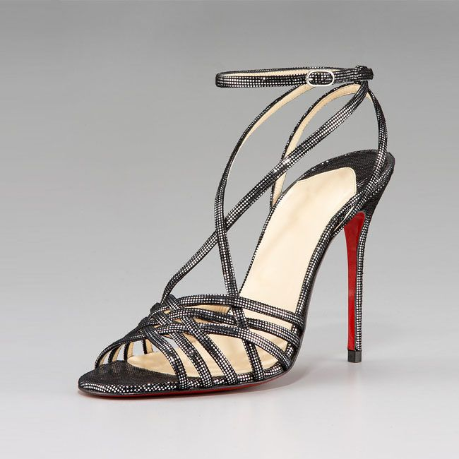 christian louboutin single ita 120mm sandals black