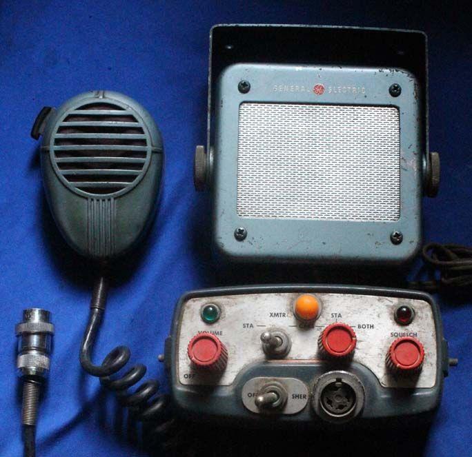 vintage GE Police radios | VERY UNUSUAL ANTIQUE GENERAL ELECTRIC RADIOHEAD, SPEAKER AND MIKE