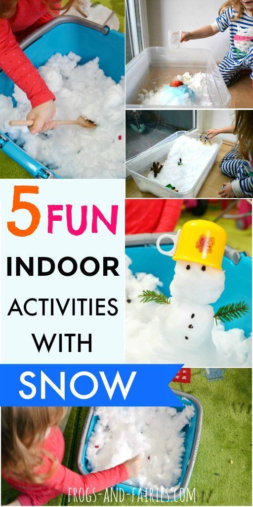 Playing with snow is a lot of fun where we can find it – outside! But fun doesn't have to end when we go home, bring some inside! #snowactivities #sensoryplay
