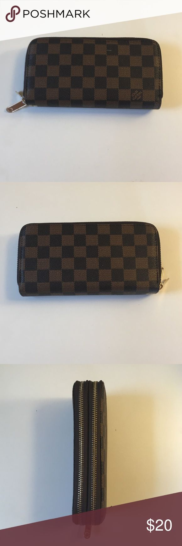 Imitation LV Wallet My mom bought me this, it's obviously not a real Louis Vuitton Wallet but it's beautiful and great quality! If you like the pattern of LV but can't afford the real one here is new Wallet for you 😊. Brand new, comes with attachable wrist strap. Bags Wallets