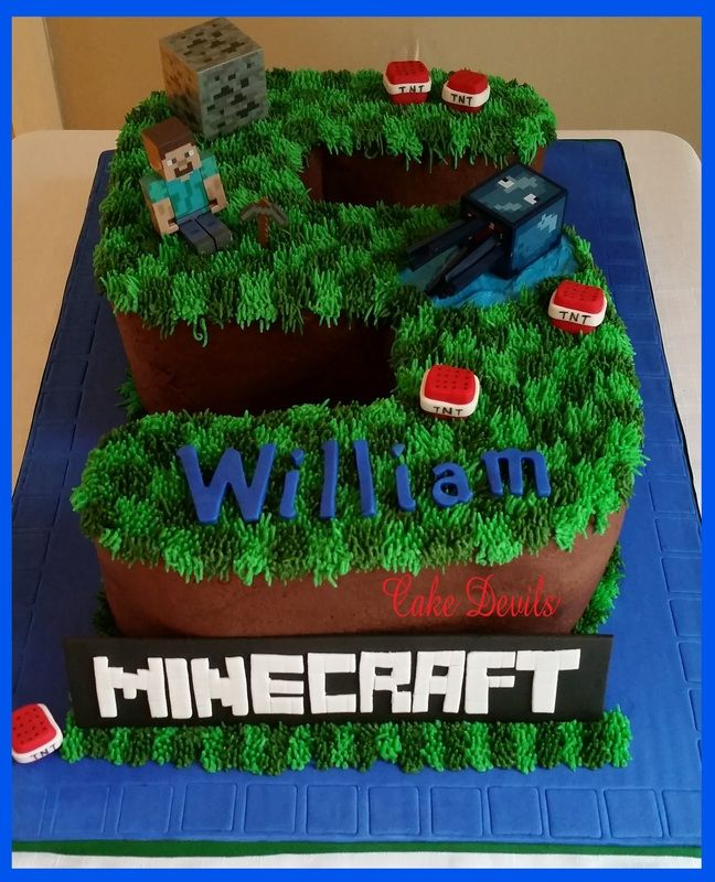 163 best Cakes images on Pinterest Birthdays Minecraft birthday