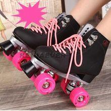 Patins RENIAEVER linha dupla patins das mulheres dos homens senhora modelo adulto de competência F1 4 Wheels duas linha sapatos de patinação Patines(China (Mainland))