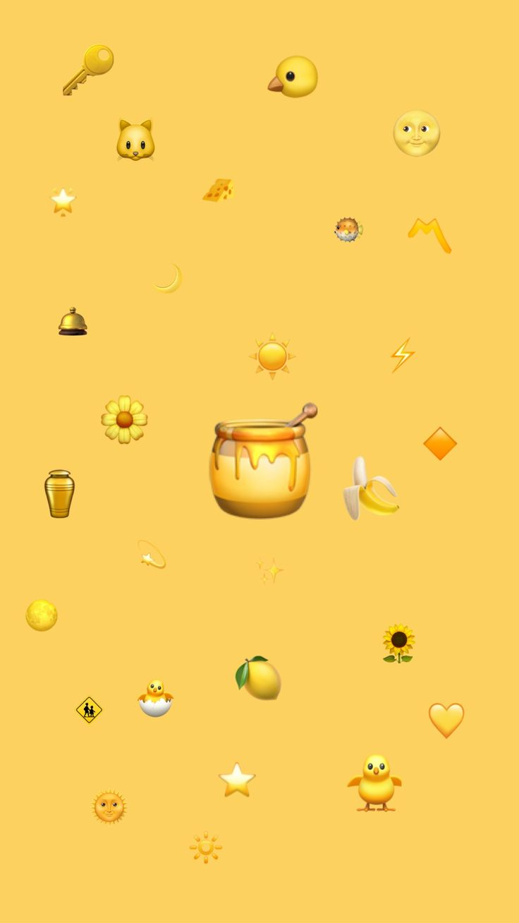 Emoji mustard yellow wallpaper