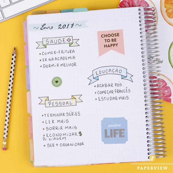 Faça de 2017 um ano mais colorido e alegre! #meudailyplanner #dailyplanner #plannerdecoration #plannerlove #paperview_papelaria