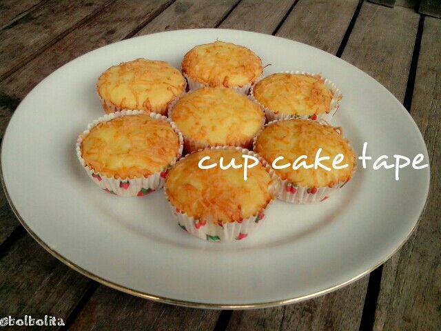 Cupcake tape, tradisional cake from indonesia..