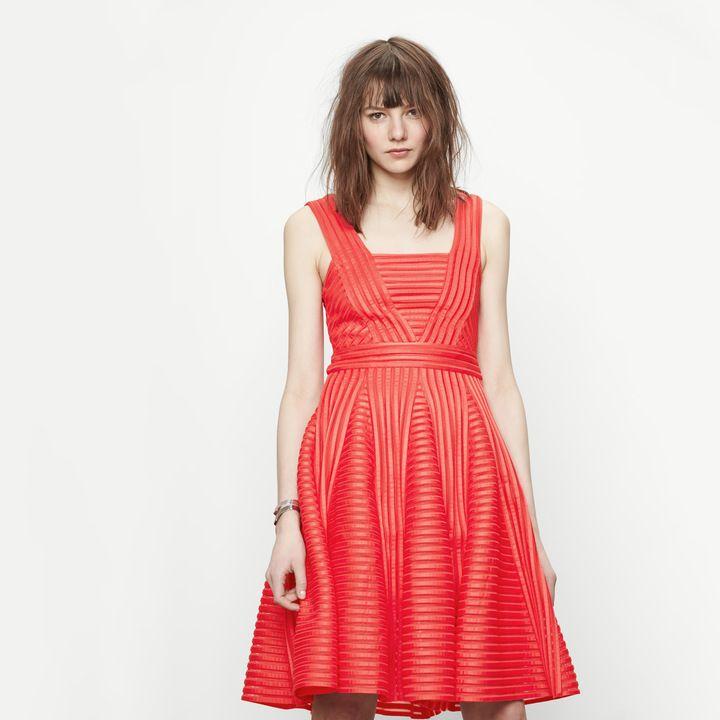 Technical knit dress