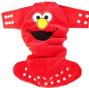 Bonnibuns AIO Elmo Nappy - $40 - far too cute