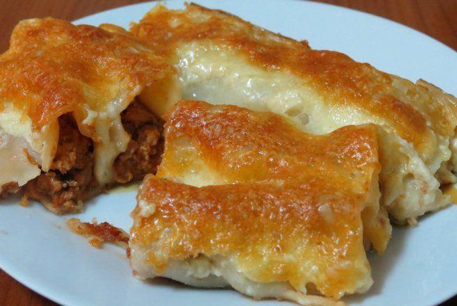 Cannelloni cu carne si cascaval