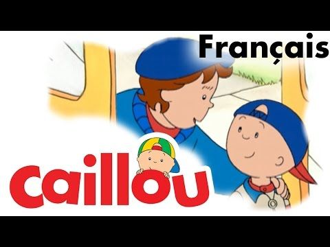 Caillou FRANÇAIS - Caillou prend l'autobus scolaire (S01E42) - YouTube