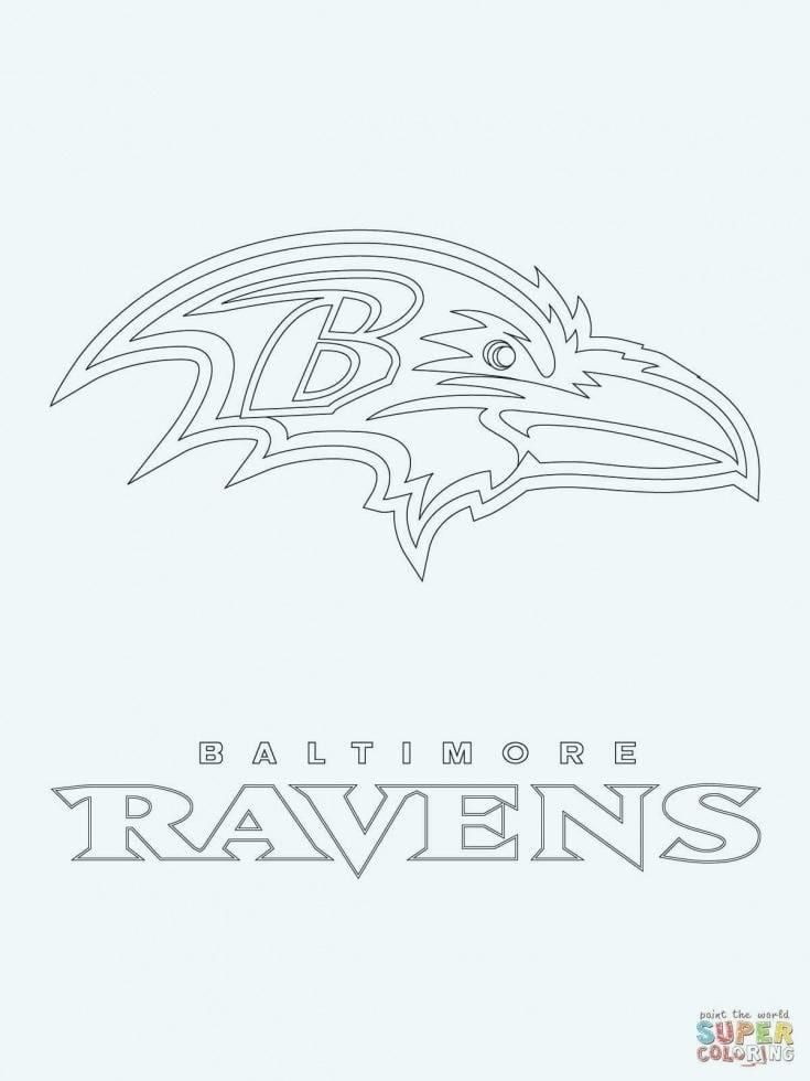 Baltimore Ravens Coloring Pages Baltimore Ravens Logo Baltimore Ravens Nfl Logo