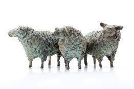 Texelse Schapen; 2012; 12x30cm #beelden # brons #dieren #schapen # arnogoossens