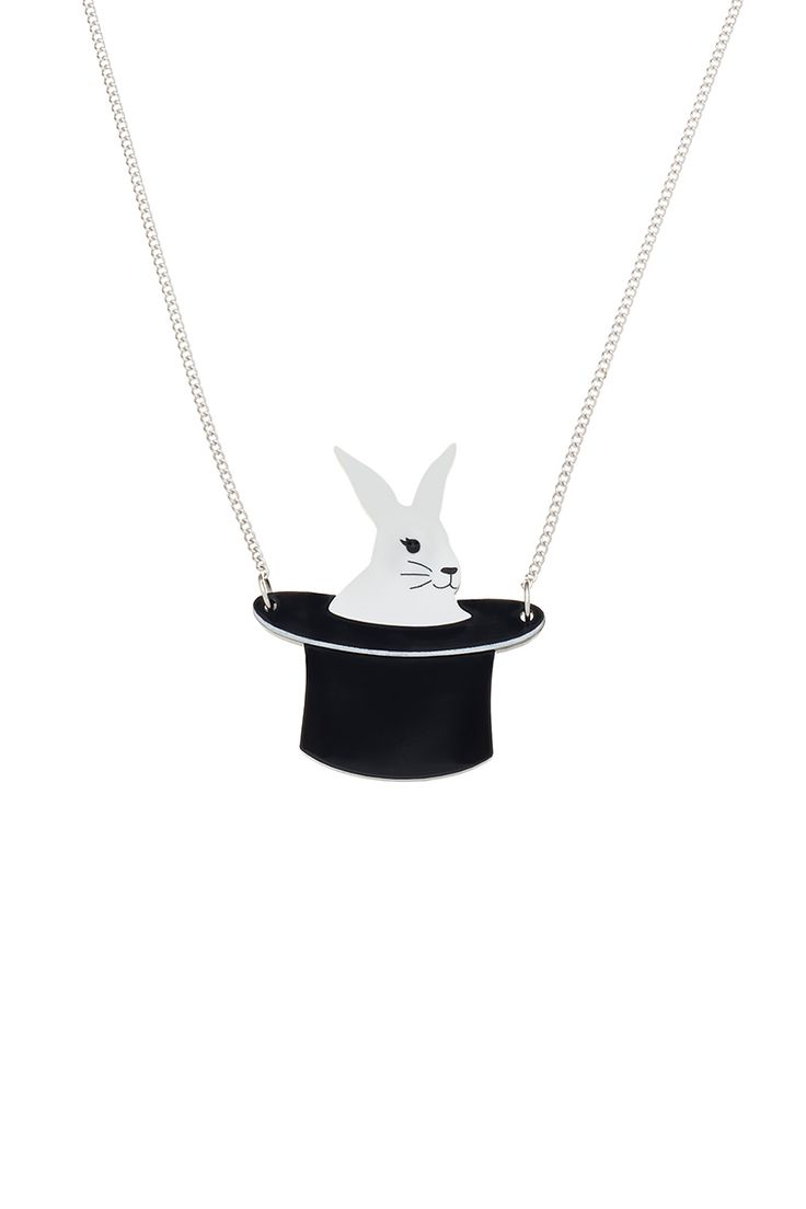 Rabbit in a Hat Necklace, £35: http://www.tattydevine.com/rabbit-in-a-hat-necklace-3656.html