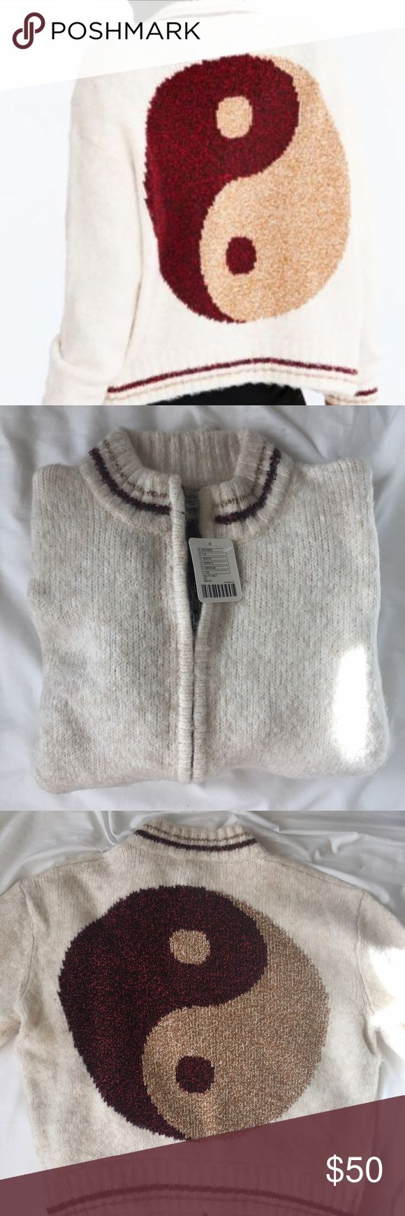 NWT Yin Yang Wool Bomber Zip Up Brand new with tags! Really chic cream zip up bomber. Originally bought for $98. Please use offer button! Brand is ecote. Topshop used for exposure Topshop Jackets & Coats