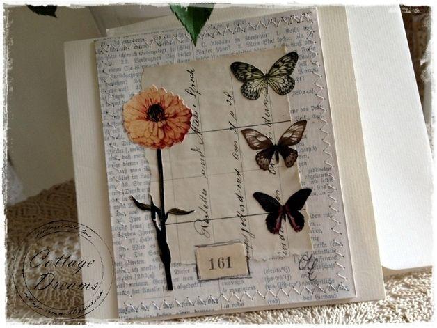 Grußkarte Blumencollage