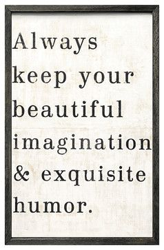 'Beautiful Imagination' Reclaimed-Wood Vintage Wall Art - transitional - Novelty Signs - Kathy Kuo Home
