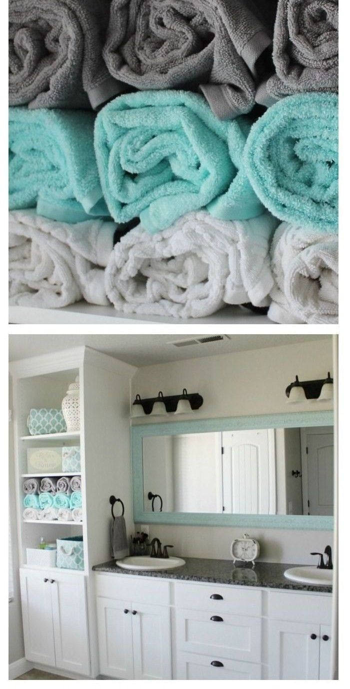 Tiffany Blue & Grey Bathroom