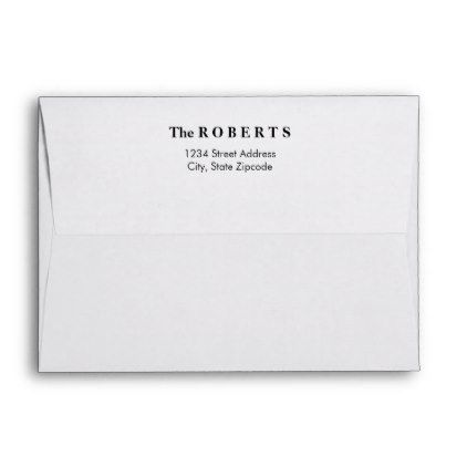 Classic Mailing Envelopes with Return Address - individual customized designs custom gift ideas diy