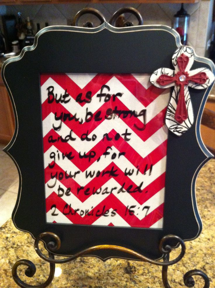 Diy bible verse of the week frame fabric cross dry for Diy fabric picture frame