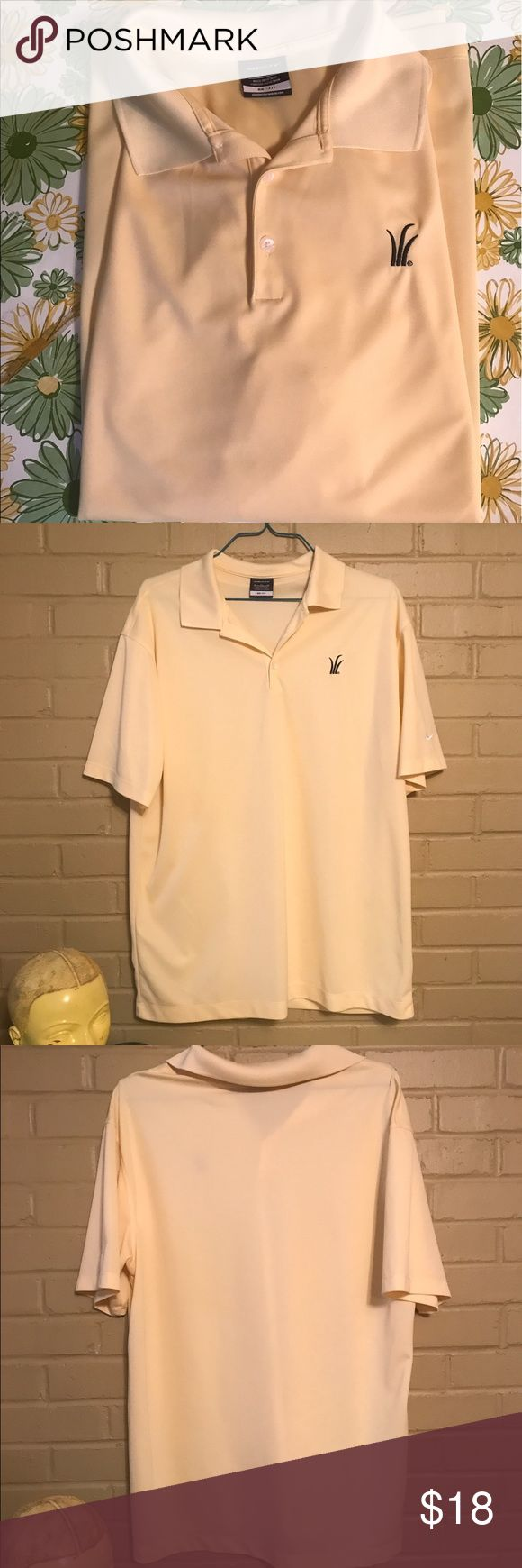Nike Golf Dri-Fit Stretch Pale Yellow Polo Shirt Very nice, lightweight Nike Golf Dri-Fit Polo. This shirt is in excellent condition. The material is soft and stretchy for a nice fit. Nike Shirts Polos