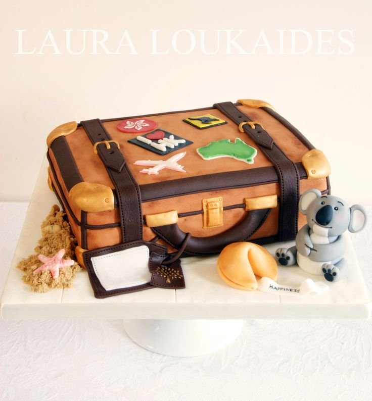 25 best ideas about suitcase cake on pinterest travel for Birthday gifts for travel lovers