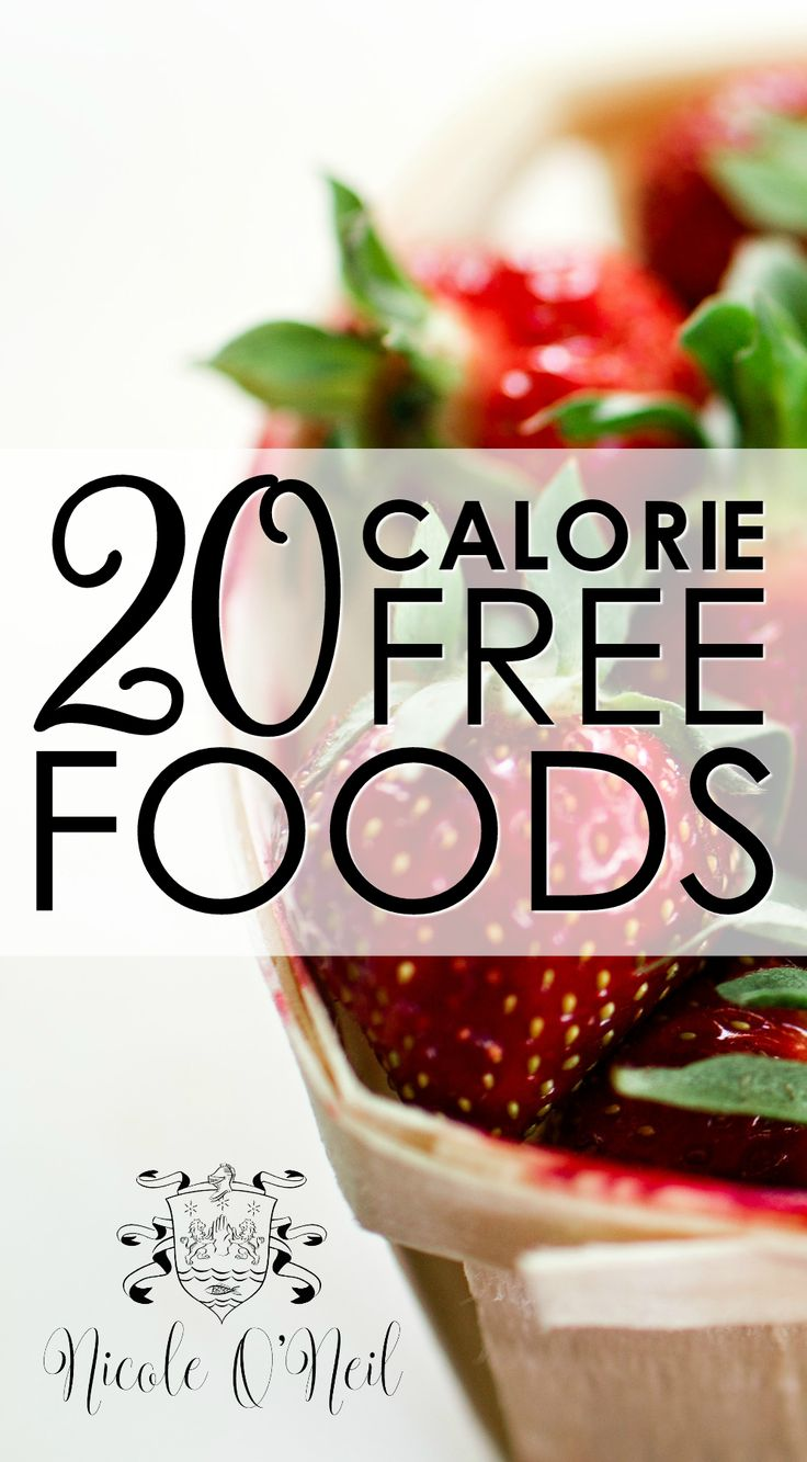 20 Calorie Free Foods - A slimming Zero Calorie Food List that is perfect for anyone looking to lose weight or boost their clean eating diet.