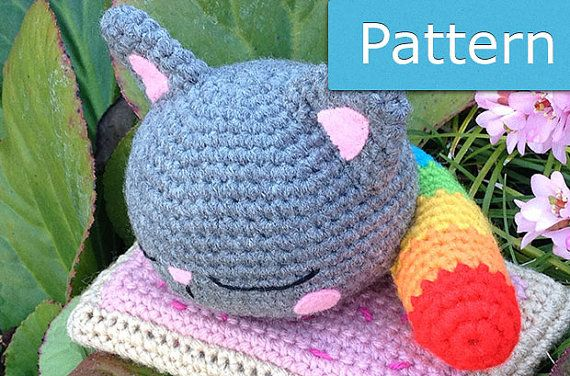 Nyan Cat Scarf Crochet Pattern Free : 17 best images about Nyan cat crochet on Pinterest Yarns ...