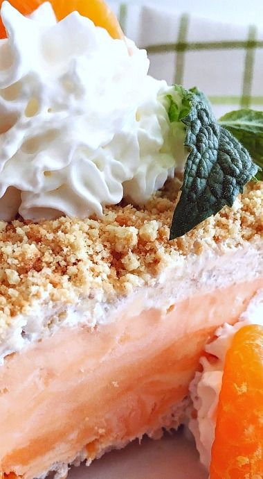 Orange Creamsicle Frozen Dessert ❊