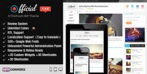 Fully responsive, retina ready Official WordPress theme for Blogs, News, Magazine websites that easily works on all smart phones, tablets and desktops with cool features like unlimited colors, RTL support, 500+ Google fonts and 30+ short codes. Check it now : http://www.nulledlistings.com/?p=2382