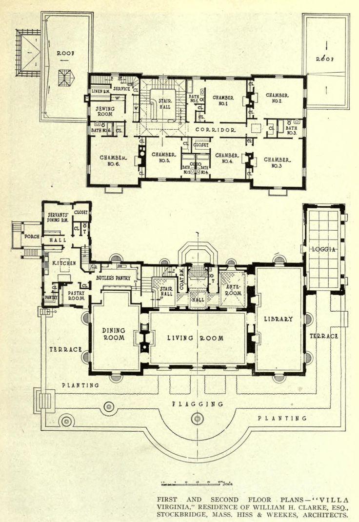 Villa Virginia, Stockbridge, Massachusetts. Hiss & Weekes Architects, 1914.