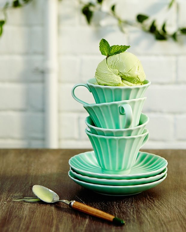 Green Table Decoration By Anthropologie