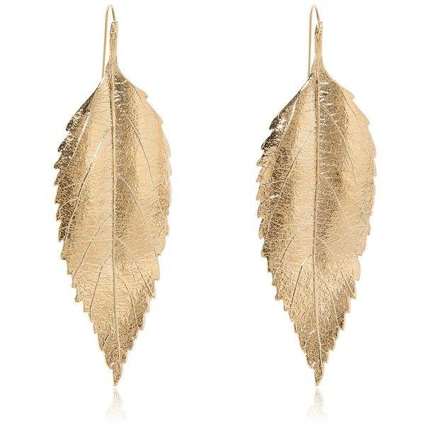 AURELIE BIDERMANN Central Park Long Leafs Earrings - Gold found on Polyvore